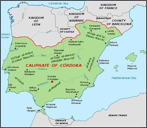 The Iberian Peninsula, c. 1000 CE