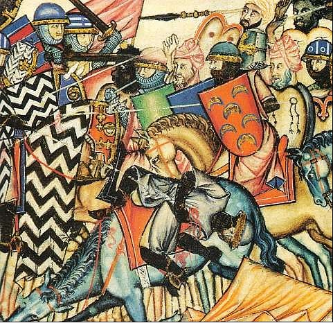 Reconquista Battle Scene (by Unknown Artist, Public Domain)