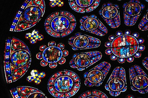 Detail, South Rose Window, Chartres Cathedral