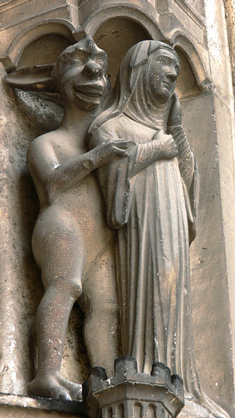Devil & Nun, Chartres Cathedral