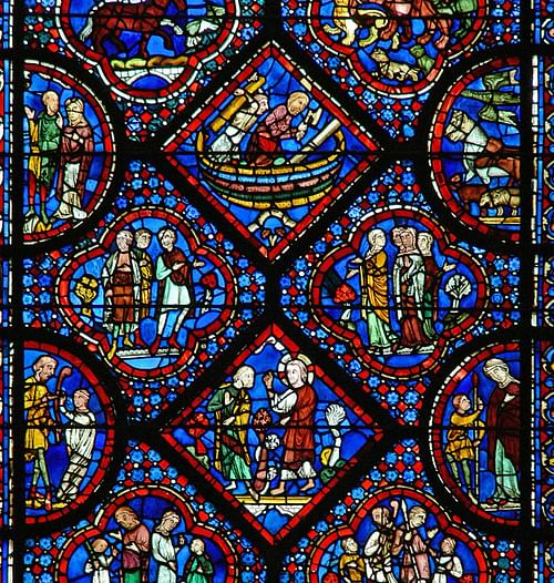 Detail, Noah Window, Chartres