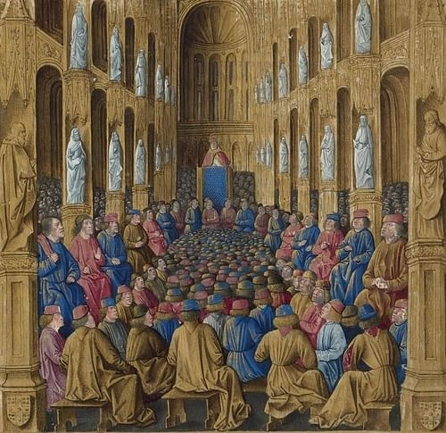 Urban II at the Council of Clermont (by Jean Colombe, Public Domain)