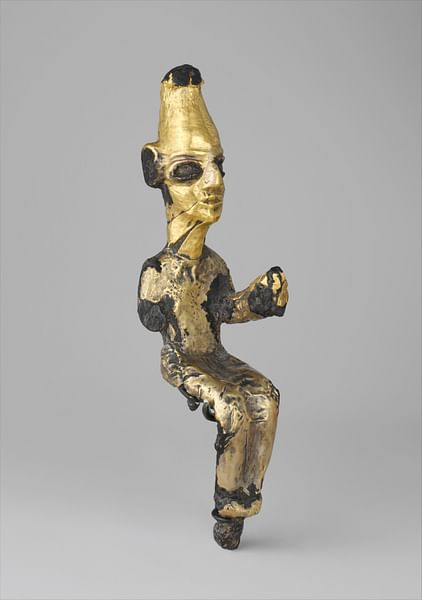 Gilded Canaanite Deity (by Metropolitan Museum of Art, Public Domain)