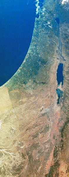 Satellite Image of Canaan-Palestine-Israel (by NASA, Public Domain)