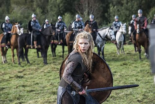 Katheryn Winnick as Lagertha (by Bernard Walsh, Copyright, fair use)