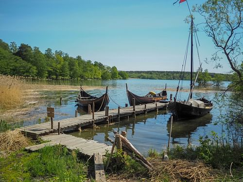Viking Boats at Birka (by chas B, CC BY)