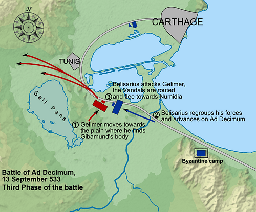 Map of the Battle of Ad Decimum