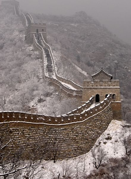 The Great Wall of China in Snow (by Steve Webel, CC BY-NC-SA)