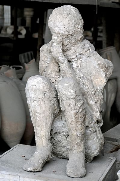"Pompeii Victim ""The Muleteer"""