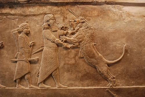 Assyrian Lion Hunt Relief (by Jan van der Crabben (Photographer), Copyright)