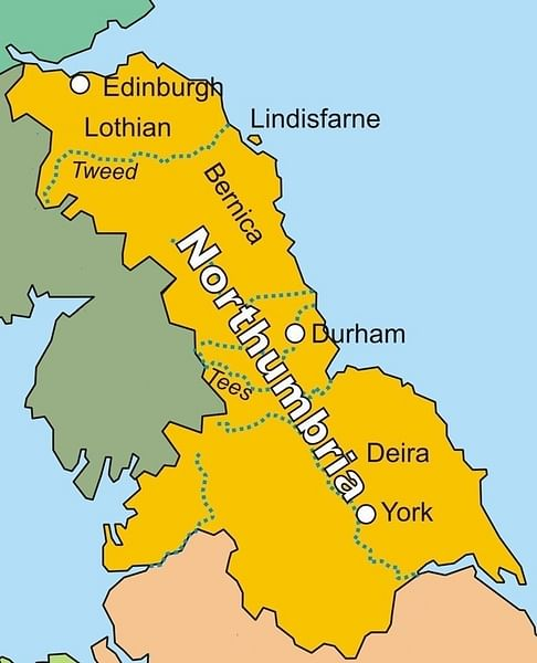 Map of the Kingdom of Northumbria