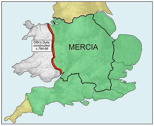 Map of Kingdom of Mercia