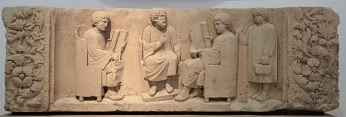 Roman Relief of a Teacher & Three Pupils