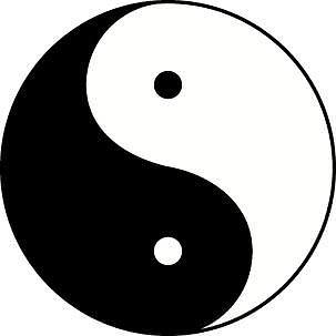 Yang with 3 parts yin symbol Taijitu