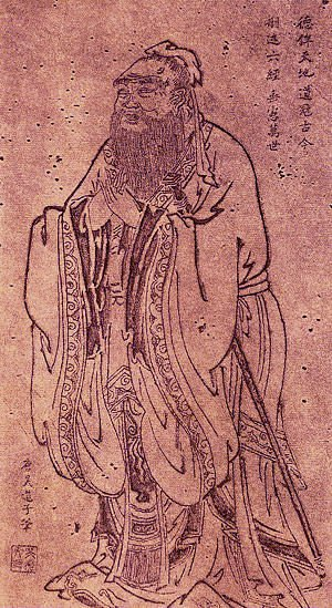Confucius by Wu Daozi (by Louis Le Grand)