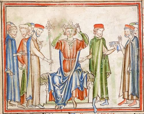 Coronation of Harold Godwinson (by Unknown Artist, Public Domain)