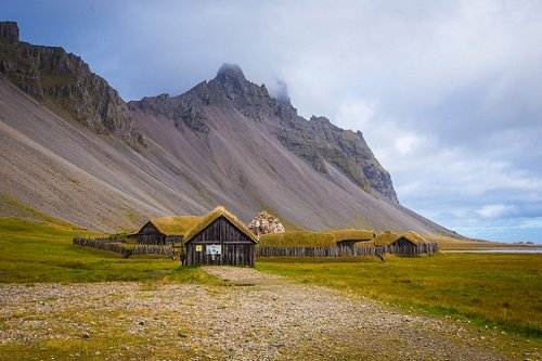 Reconstructed Viking Village in Hofn, Iceland