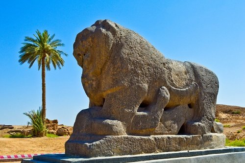 Lion of Babylon up Close