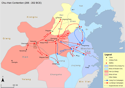 Chu-Han Contention Map (by SY, CC BY-SA)