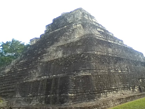 Temple 1 at Chacchoben (by Betsy Mark)