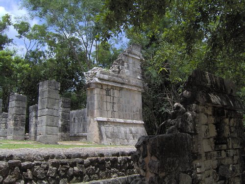 Temple of the Pillars Chichen Itza