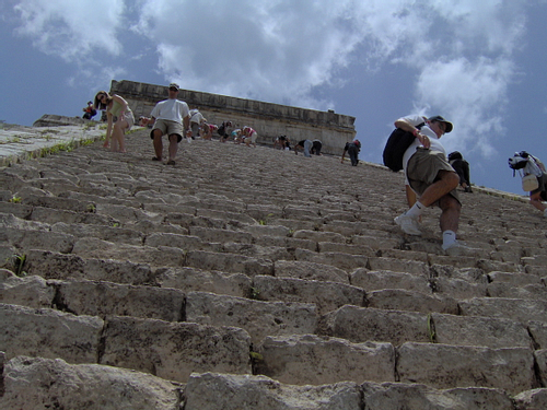 Steps of El Castillo Chichen Itza