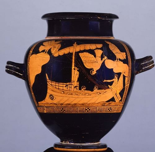 Odysseus and the Sirens (by Trustees of the British Museum, Copyright)