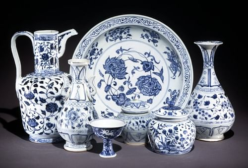 Ming Dynasty Blue-and-White Porcelain (by The British Museum, Copyright)