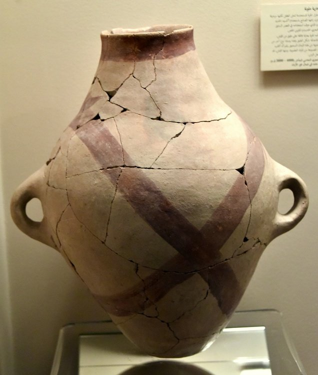 Decorated Pottery Jar from Abu Hamid