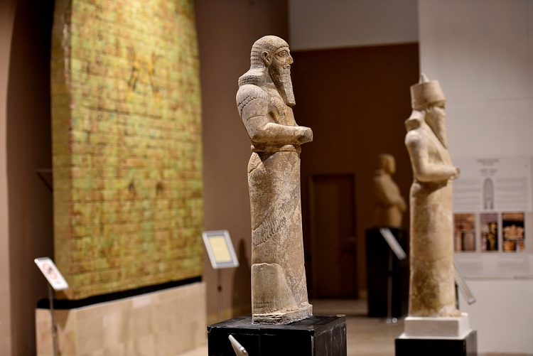 Two Statues of Shalmaneser III at the Iraq Museum