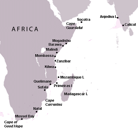 Swahili Coast Map