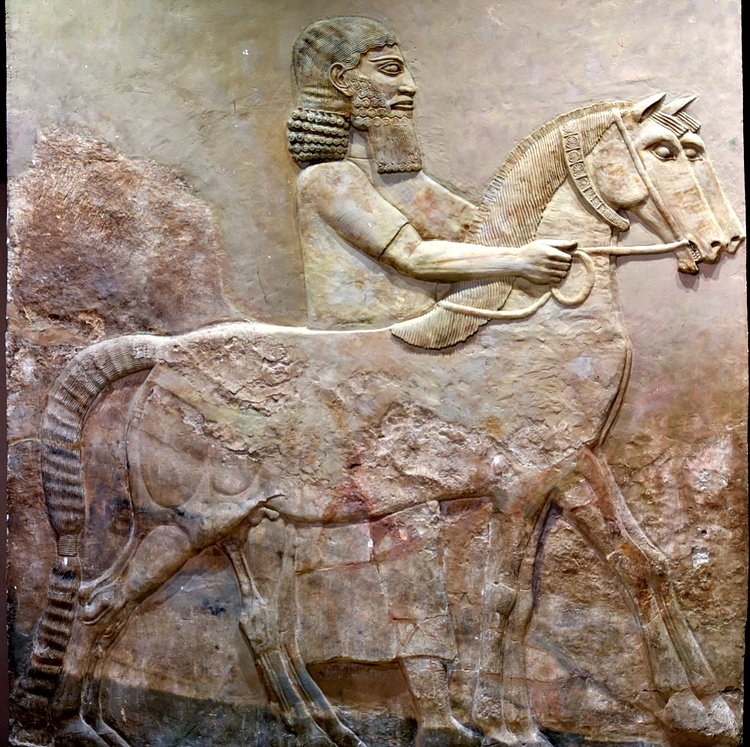 Assyrian Groom and Horses