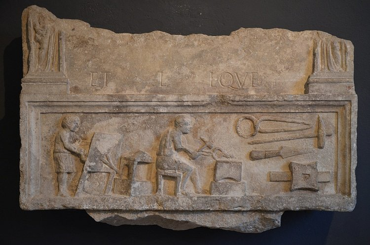 Funerary Stele of a Blacksmith