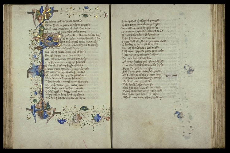 Illuminated Pages from the Romaunt of the Rose