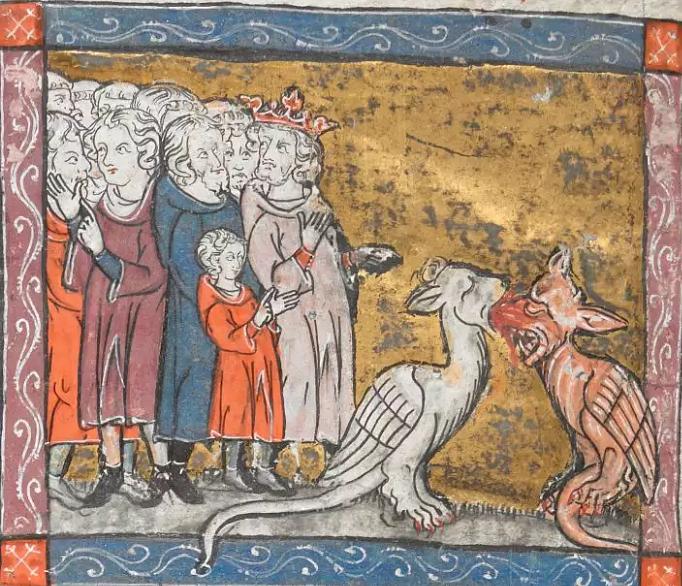 Merlin Reveals the Dragons to Vortigern (Illustration) - Ancient