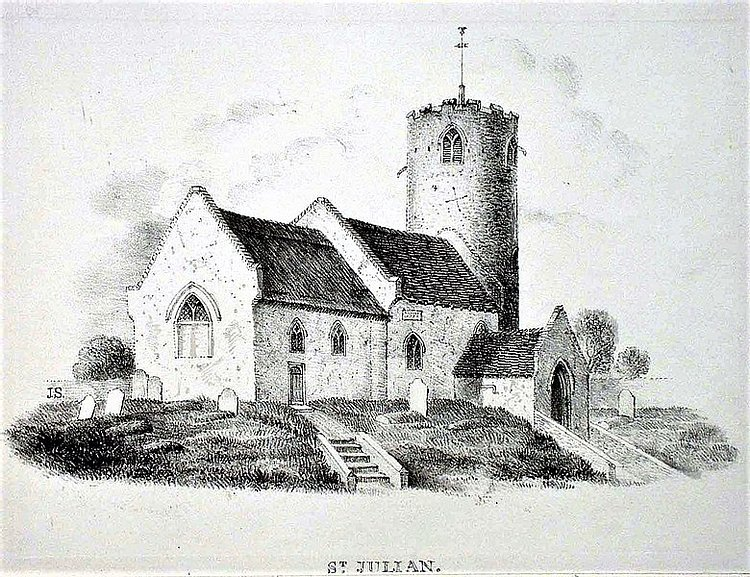 Drawing of St. Julian's Church, Norwich