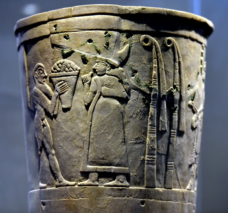 Offering to Inanna, Warka Vase [Top Register]