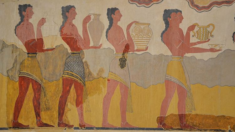 Minoan 'Procession Fresco' from Knossos