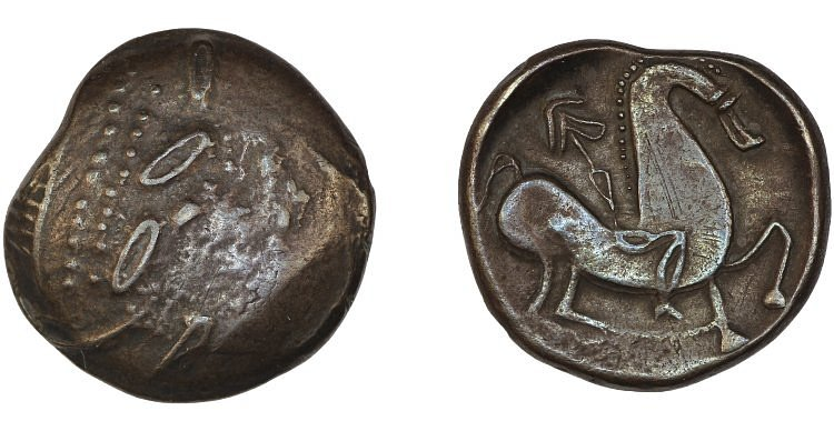 Celtic Coin with Abstract Horse