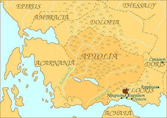 Map of Aetolia