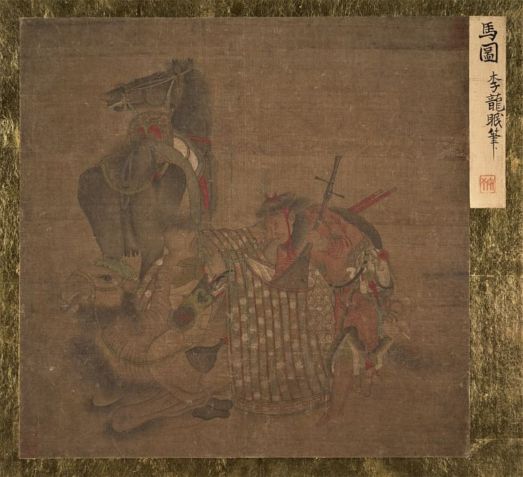 Mongol with Horse & Camel