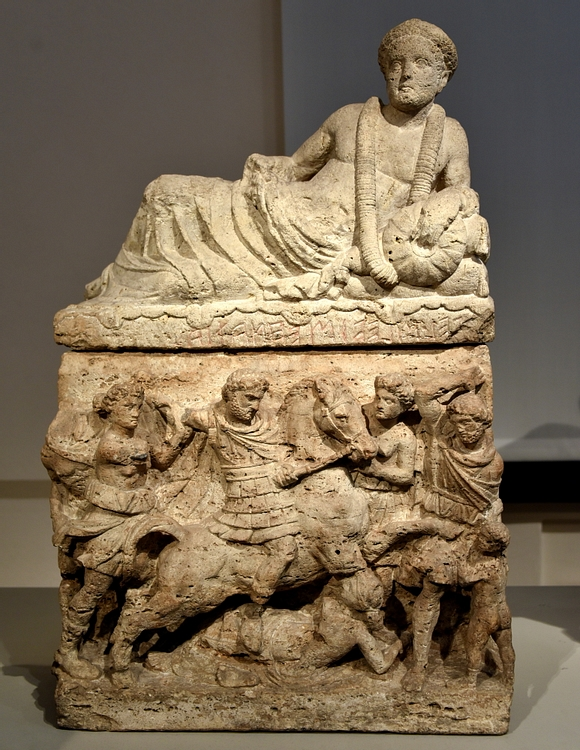 Cinerary Urn Portraying the Murder of Troilus