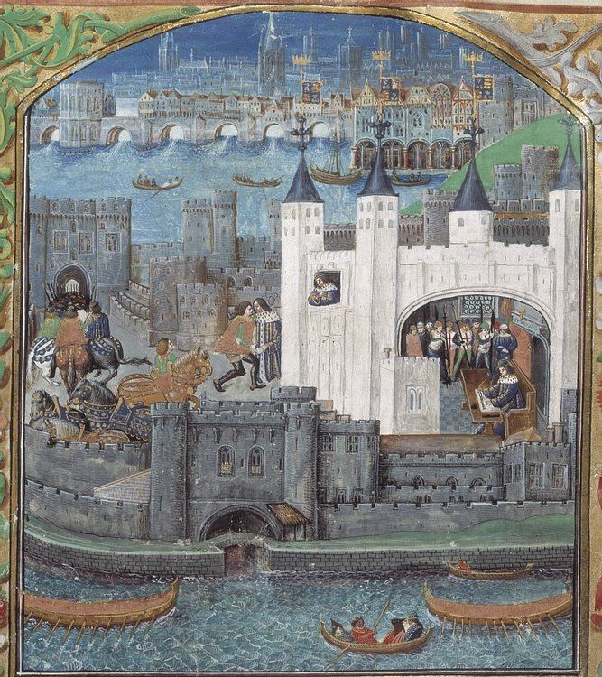 Tower of London Medieval Illustration