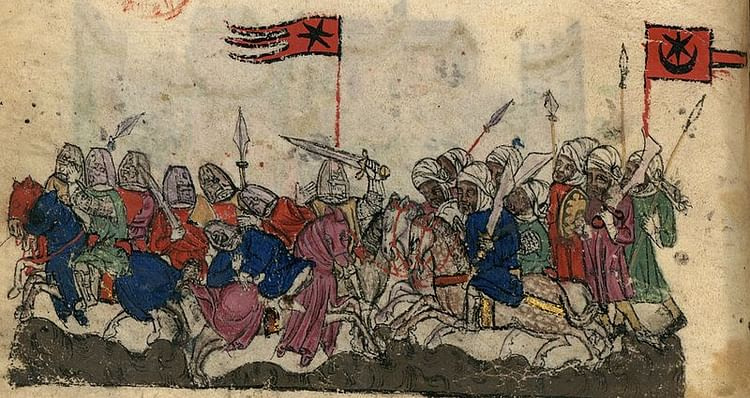 Illustration of the battle of Yarmouk (636 CE)