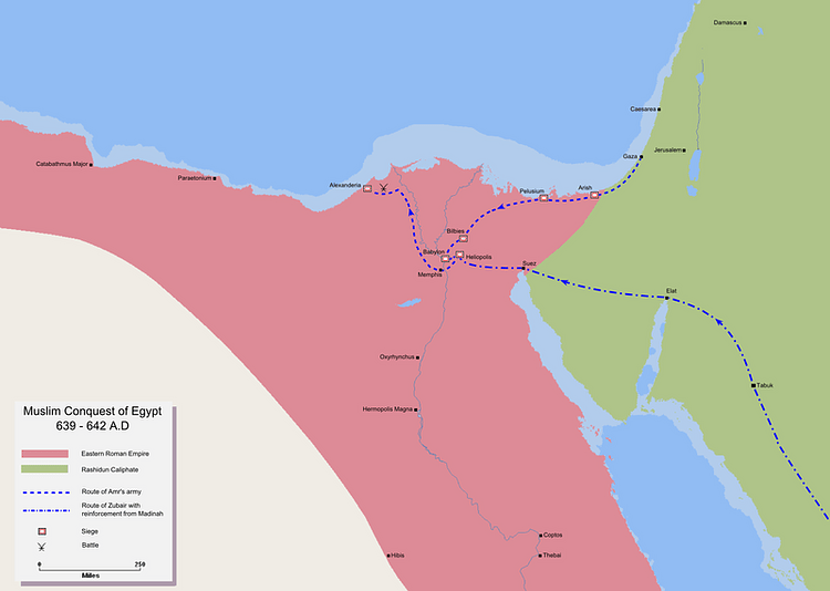 Muslim Conquest of Egypt, 640-642 CE