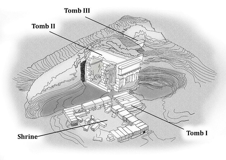 Model of the Shrine & Tombs Under the Great Tumulus, Vergina
