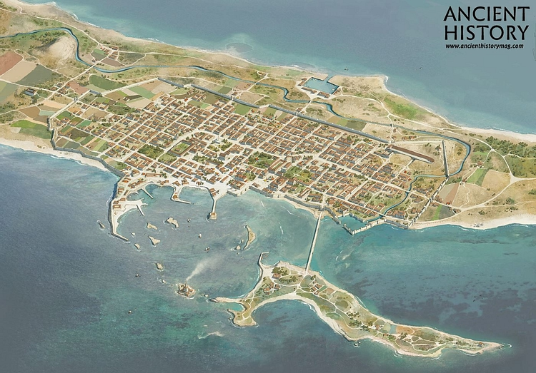 Aerial View of Ancient Alexandria