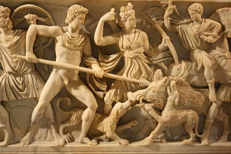 Sarcófago romano (Detalle) ()