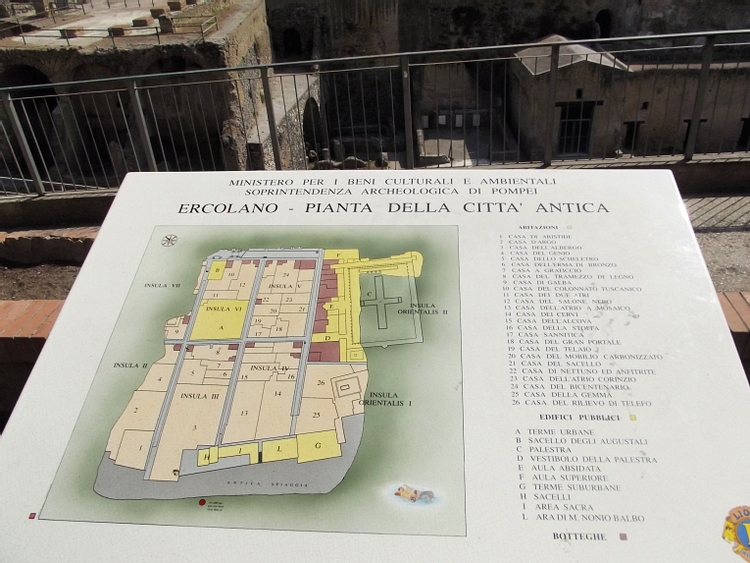 Map of Herculaneum