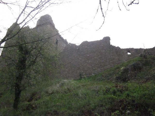 Ruins of Urquhart Castle from Shore of Loch Ness